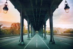 The Pont de Bir-Hakeim bridge Stock Photo