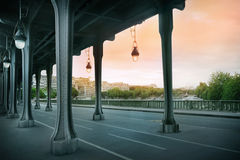 The Pont de Bir-Hakeim bridge Stock Photos