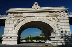 Pont de Bir-Hakeim bridge, Paris, France Stock Image