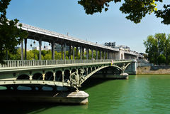 Pont de Bir-Hakeim bridge, Paris, France. Stock Photo