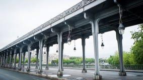 Pont de bir-hakeim Royalty Free Stock Photo
