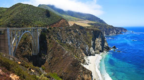 Pont de Bixby, Big Sur, la Californie Photos libres de droits