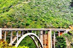 Pont de Bixby le long de la route de Côte Pacifique en Californie Photographie stock