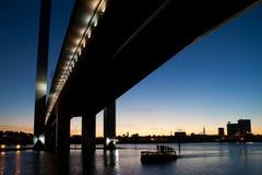 Pont de Bolte au crépuscule Images libres de droits