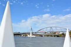 Pont de bonne volonté - Australie de Brisbane Images stock