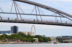 Pont de bonne volonté - Australie de Brisbane Image libre de droits