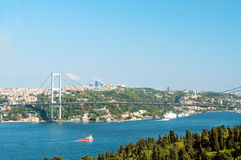 Pont de Bosphore. Istanbul. La Turquie Photographie stock libre de droits