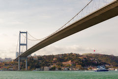 Pont de Bosphorus, Istanbul, Turquie Photo libre de droits