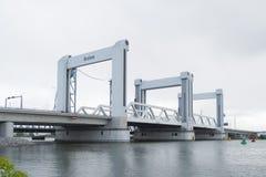 Pont de Botlek à Rotterdam, Hollandes Photographie stock libre de droits