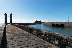 Pont de boule à Arrecife images stock