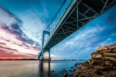 Pont de Bronx Whitestone Photos libres de droits
