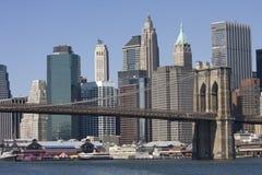 Pont de Brookling, horizon de New York Photographie stock libre de droits