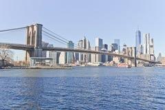 Pont de Brooklyn à New York Image stock