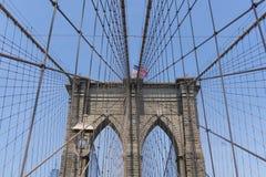 Pont de Brooklyn à New York City Photos libres de droits