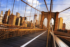 Pont de Brooklyn à New York City Photographie stock