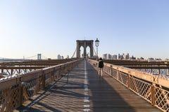 Pont de Brooklyn au matin Photo stock