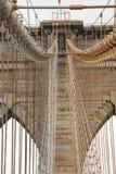Pont de Brooklyn de forme de vue photos stock