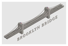 Pont de Brooklyn illustré par 3d de vecteur illustration libre de droits