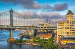 Pont de Brooklyn, Manhattan Photo stock