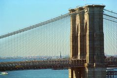 Pont de Brooklyn New York image libre de droits