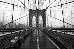 Pont de Brooklyn de New York City Photos libres de droits