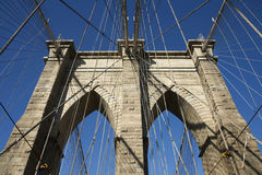 Pont de Brooklyn, New York, Etats-Unis Photos stock