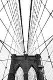 Pont de Brooklyn, noir et blanc photographie stock libre de droits