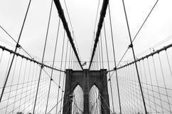 Pont de Brooklyn, noir et blanc Photos libres de droits