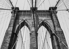 Pont de Brooklyn NY Images libres de droits