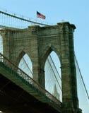 Pont de Brooklyn de port de New York Photos libres de droits