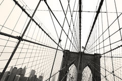 Pont de Brooklyn, sépia Images libres de droits