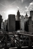 Pont de Brooklyn - vue de Manhattan photos libres de droits