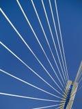 pont de câble-séjour de Multi-envergure de Rio - Antirio, Grèce Image libre de droits