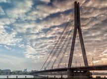 Pont de Cabble à Riga, Lettonie Images libres de droits