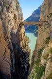 Pont de Caminito del Rey Photographie stock libre de droits