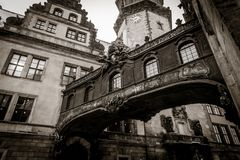 Pont de château de Dresde photographie stock