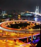 Pont de Changhaï Nanpu Photos stock
