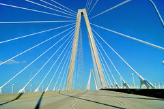 Pont de Charleston Ravenel Photographie stock