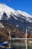 Pont de chemin de fer à Innsbruck, Autriche Photos libres de droits