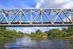 Pont de chemin de fer images libres de droits