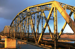 Pont de chemin de fer. Photos libres de droits