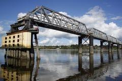 Pont de chemin de fer de brouette, Wexford, Irlande Images libres de droits