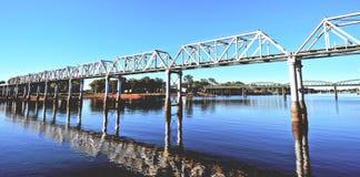 Pont de chemin de fer de Bundaberg Images libres de droits