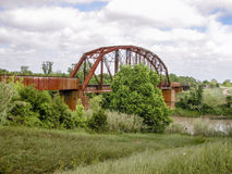 Pont de chemin de fer de la rivière Brazos images libres de droits