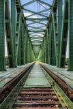 Pont de chemin de fer de train. photographie stock