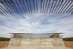 Pont de chemin de fer en construction Photographie stock