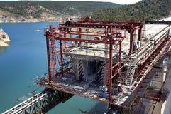 Pont de chemin de fer en construction Photo stock
