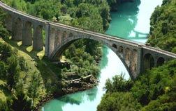 Pont de chemin de fer en pierre Images stock
