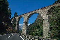 Pont de chemin de fer, France Images libres de droits