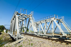 Pont de chemin de fer vert Photos libres de droits